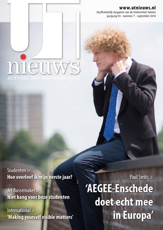 UT Nieuws Magazine september 2014 cover